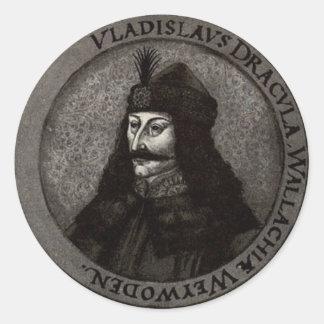 Vlad el Impaler Etiquetas Redondas