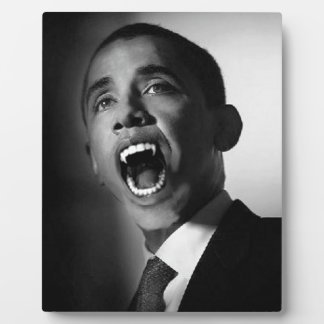 Vlad Obama - Mmmm You Look Tasty (Black) Photo Plaque