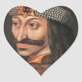 Vlad Tepes Heart Sticker