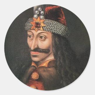 Vlad Tepes Pegatina Redonda