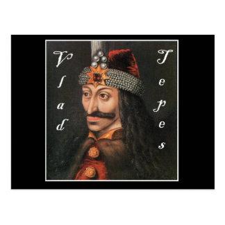Vlad Tepes with name in Blackadder Postcard