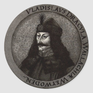 Vlad the Impaler Classic Round Sticker