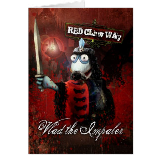Vlad the Impaler Sock Puppet Greeting Card