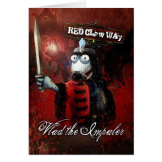 Vlad the Impaler Sock Puppet Greeting Card