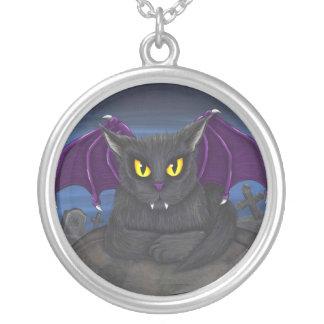 Vlad Vampire Cat Gothic Fantasy Art Necklace