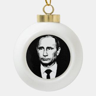 Vladamir Putin Face Ceramic Ball Christmas Ornament