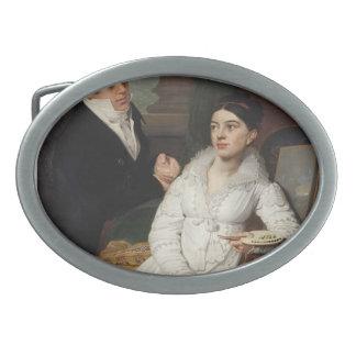 Vladimir Borovikovsky- Portrait of A. G. &Lobanov Oval Belt Buckle
