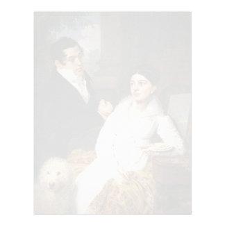 Vladimir Borovikovsky- Portrait of A. G. &Lobanov Customized Letterhead