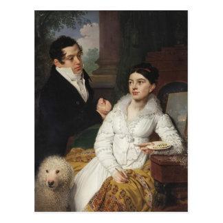 Vladimir Borovikovsky- Portrait of A. G. &Lobanov Postcard
