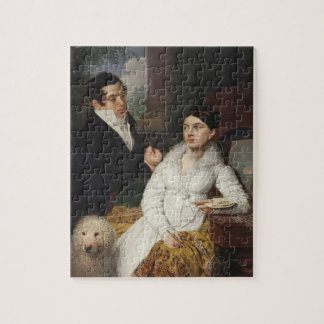 Vladimir Borovikovsky- Portrait of A. G. &Lobanov Puzzle
