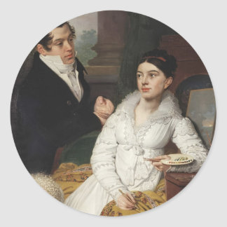 Vladimir Borovikovsky- Portrait of A. G. &Lobanov Sticker