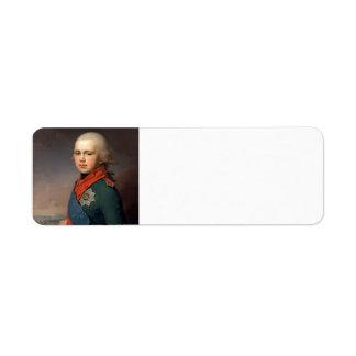 Vladimir Borovikovsky- Portrait of Grand Duke Return Address Label