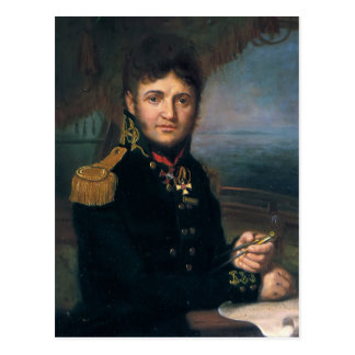 Vladimir Borovikovsky-Portrait of Yuri F.Lisyansky Postcard