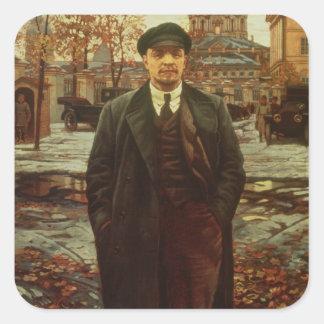 Vladimir Ilyich Lenin en Smolny, c.1925 Pegatina Cuadrada