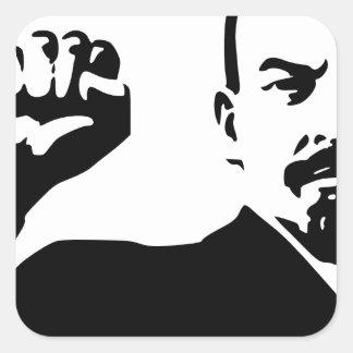 Vladimir Lenin Pegatina Cuadrada