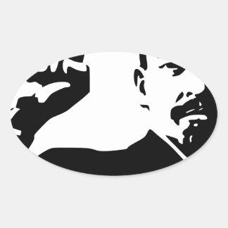 Vladimir Lenin Pegatina Ovalada
