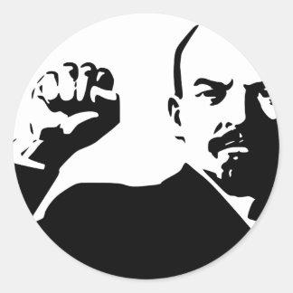 Vladimir Lenin Pegatina Redonda