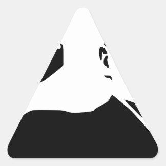 Vladimir Lenin Pegatina Triangular