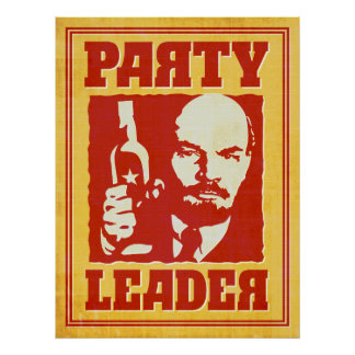 Vladimir Lenin - Satirical Bolshevik Party Poster