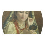 Vladimir Makovsky-Young Lady Looking into a Mirror Business Card Templates