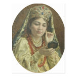 Vladimir Makovsky-Young Lady Looking into a Mirror Postcard