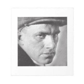 Vladimir Mayakovsky close-up (Маяковский) Notepad