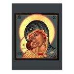 Vladimir Mother of God Prayer Card Post Cards