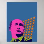 Vladimir Putin con las estrellas Impresiones