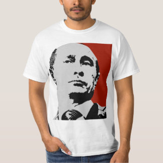 Vladimir Putin en rojo Playera
