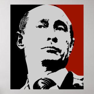 Vladimir Putin en rojo Póster