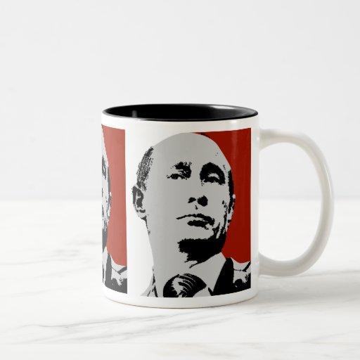 Vladimir Putin en rojo Taza
