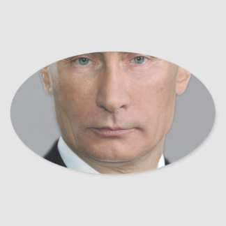 Vladimir Putin Gear Oval Sticker