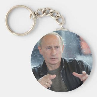 Vladimir Putin Basic Round Button Keychain