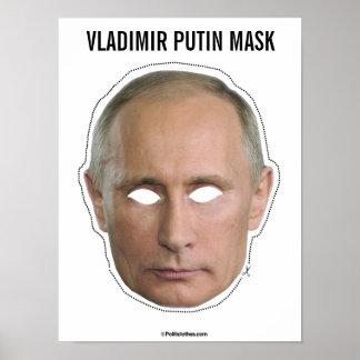 Vladimir Putin Mask Cutout Poster
