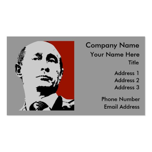 Vladimir Putin on Red Double-Sided Standard Business Cards (Pack Of 100)