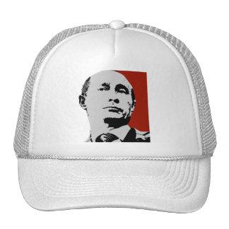 Vladimir Putin on Red Trucker Hat
