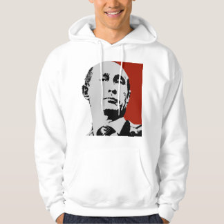 Vladimir Putin on Red Hooded Sweatshirt