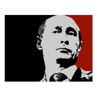 Vladimir Putin on Red Postcard
