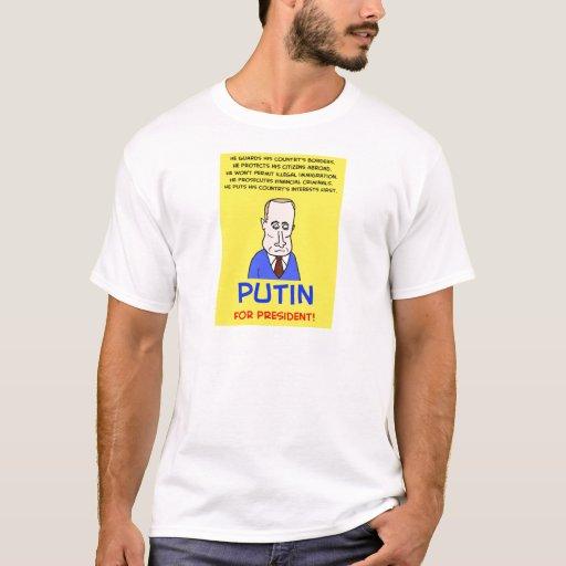 Vladimir Putin para el presidente Playera
