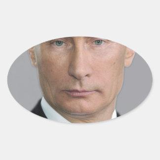 Vladimir Putin Pegatina Ovalada