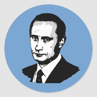 Vladimir Putin Pegatina Redonda
