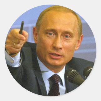 ¡Vladimir Putin quiere dar a ese hombre una Pegatina Redonda