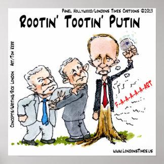 Vladimir Putin & Ring Funny Poster Poster