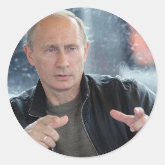 Vladimir Putin Classic Round Sticker