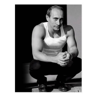 Vladimir Putin Tarjeta Postal