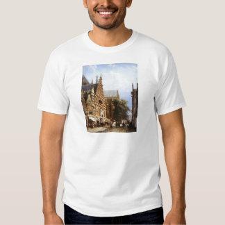 Vleeschhal and Grote Kerk in Haarlem by Cornelis T Shirt