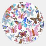 Vlinderhart Etiqueta Redonda