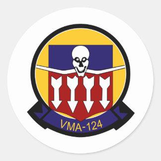 vma-124 pegatina redonda