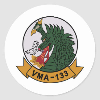 VMA-133 Dragons Classic Round Sticker