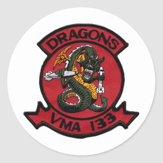VMA 133 Dragons Classic Round Sticker